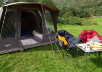 pitched tent
