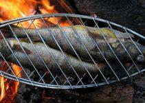 prepare a fish while camping