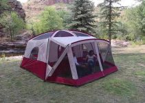 Cabin Tent with A Screen Room For Summer Glamping