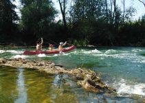 Canoeing On The River Krka